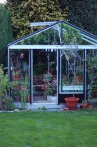 Växthuset i trädgården